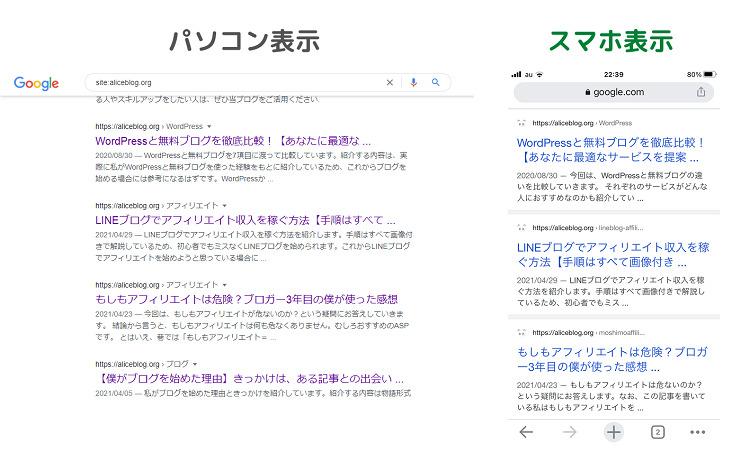 検索結果に表示される記事タイトルの文字数